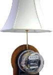 meter lamp mahogany