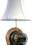 meter lamp oak